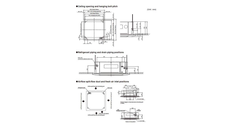 Cassette 4-Way Flow Indoor Model AUTG54LRLA