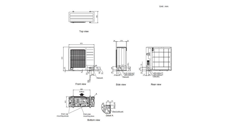 Circular Flow Cassette Outdoor Unit AOTG36KBTA & AOTG45KBTA