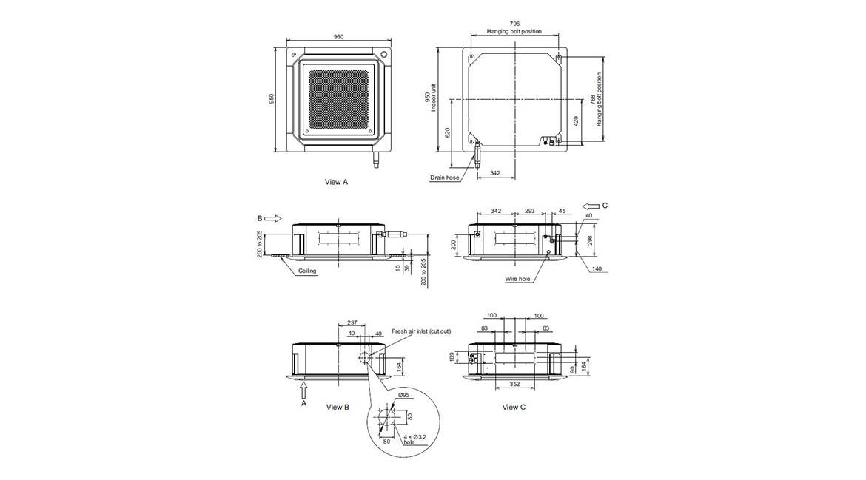 Circular Flow Cassette Indoor Model AUTG30KRLA