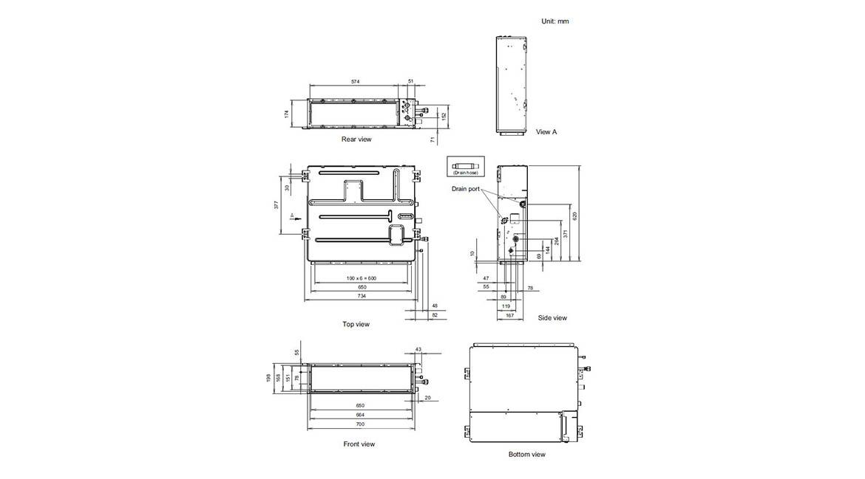 Slim Duct Indoor Model ARTG12LLLB