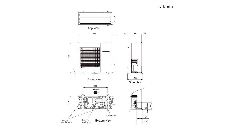 Ducted Slimline Outdoor Model AOTA30LGTL