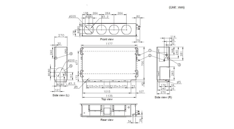 Ducted Slimline Indoor Model ARTA45LATU