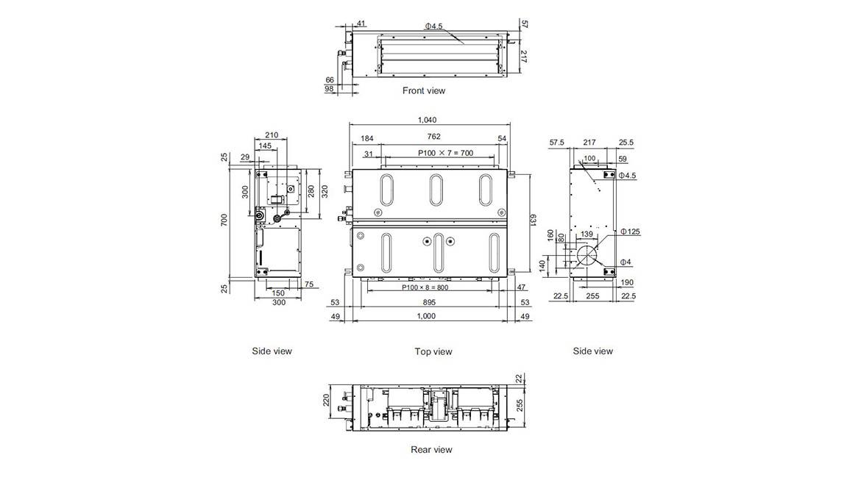 Ducted Slimline Plus Indoor Model ARTG24LHTDP