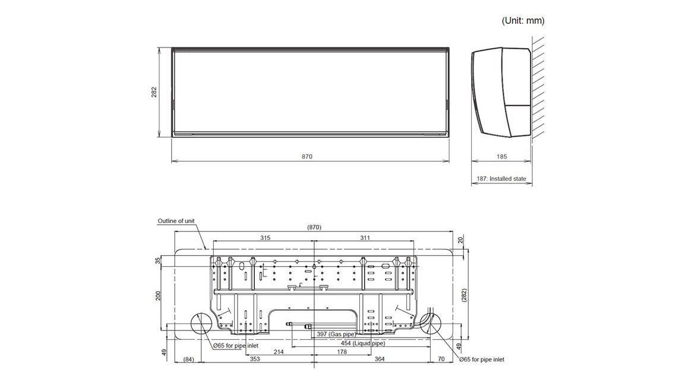 Wall Mounted Designer Indoor Model ASTG18KUCA
